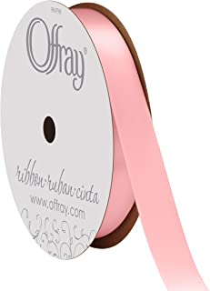 "product image for Offray Berwick 5/8"" Single Face Satin Ribbon, Light Pink, 20 Yds"