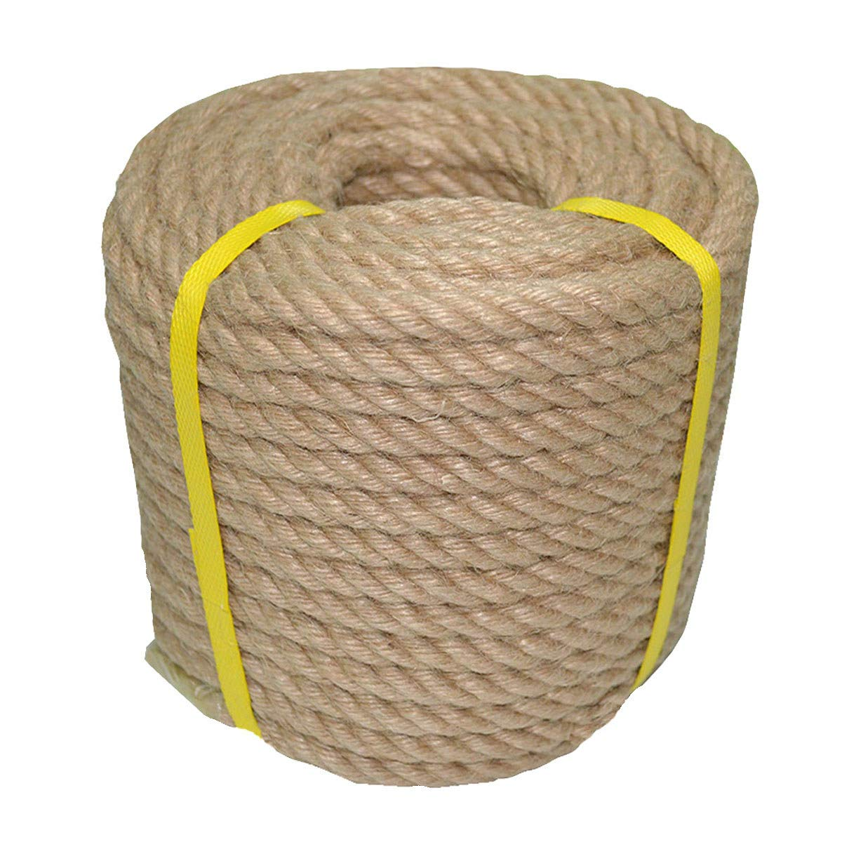 100% Natural Jute Rope Hemp Rope 100 Feet 1/2 Inch Strong Jute Twine for DIY Crafts Gardening Hammock Home Decorating by YuzeNet