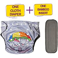 OSOCozee Resuable Cloth Diapers for Babies with Free Absorbent Insert Washable Adjustable Pack of Diapers for 6 Months to 3 Years Baby Cat