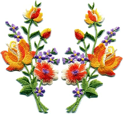 """2 1//2/"""" Country Sunflower Flower Embroidery Patch"""