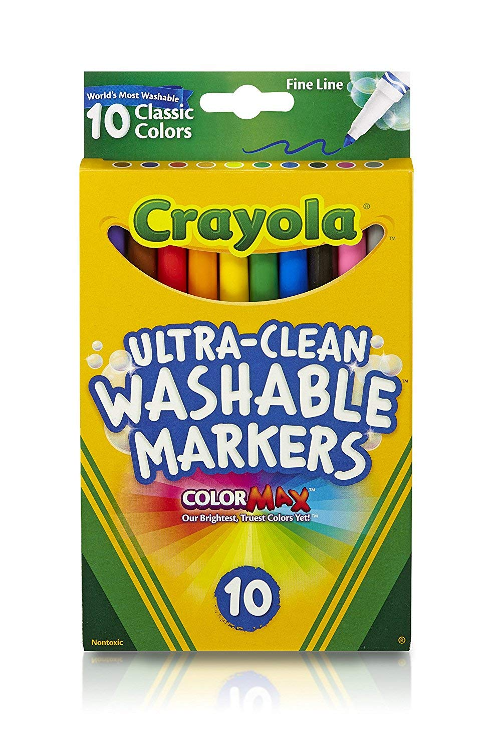 Crayola Ultraclean Fineline Classic Markers 3-Pack 10 Count