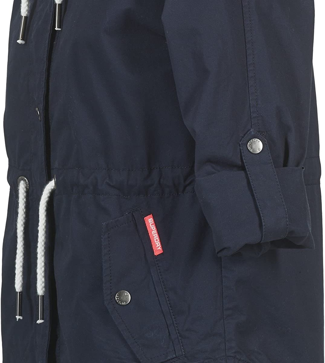 crop parka rooki double midnight superdry femme