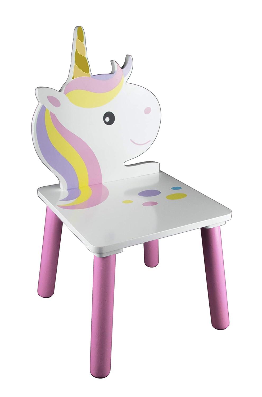 Arredamento per Asilo Nido e Camera dei Giochi per Bambini Ragazzi e Neonati Set con Tavolo e 2 Sedie con Unicorno