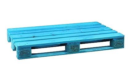 Palet Europalet homologado 120x80x14 cm diferentes colores (Azul)