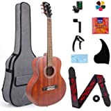 AKLOT 3/4 Classical Acoustic Guitar, Travel Acoustic Guitar with Classical String 38 inch Mahogany w/Gig Bag Tuner Strap…