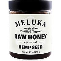 Meluka 100% Organic Raw Hemp Seed Honey