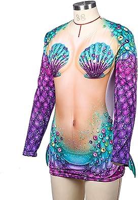 Camiseta de Manga Larga para Disfraz de Sirena de Halloween (1 ...