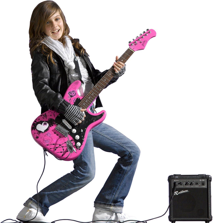 Jaxville ST1PPPK - Pack de Guitarra Electrica stratocaster rosa kit con amplificador principiante punk rock: Amazon.es: Instrumentos musicales