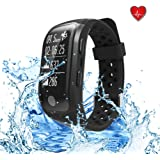 Fitness Activity Tracker,Smart Bracelet Swimming Waterproof Heart Rate Monitor Smart Band, Pedometer Wristband for IOS and Android.
