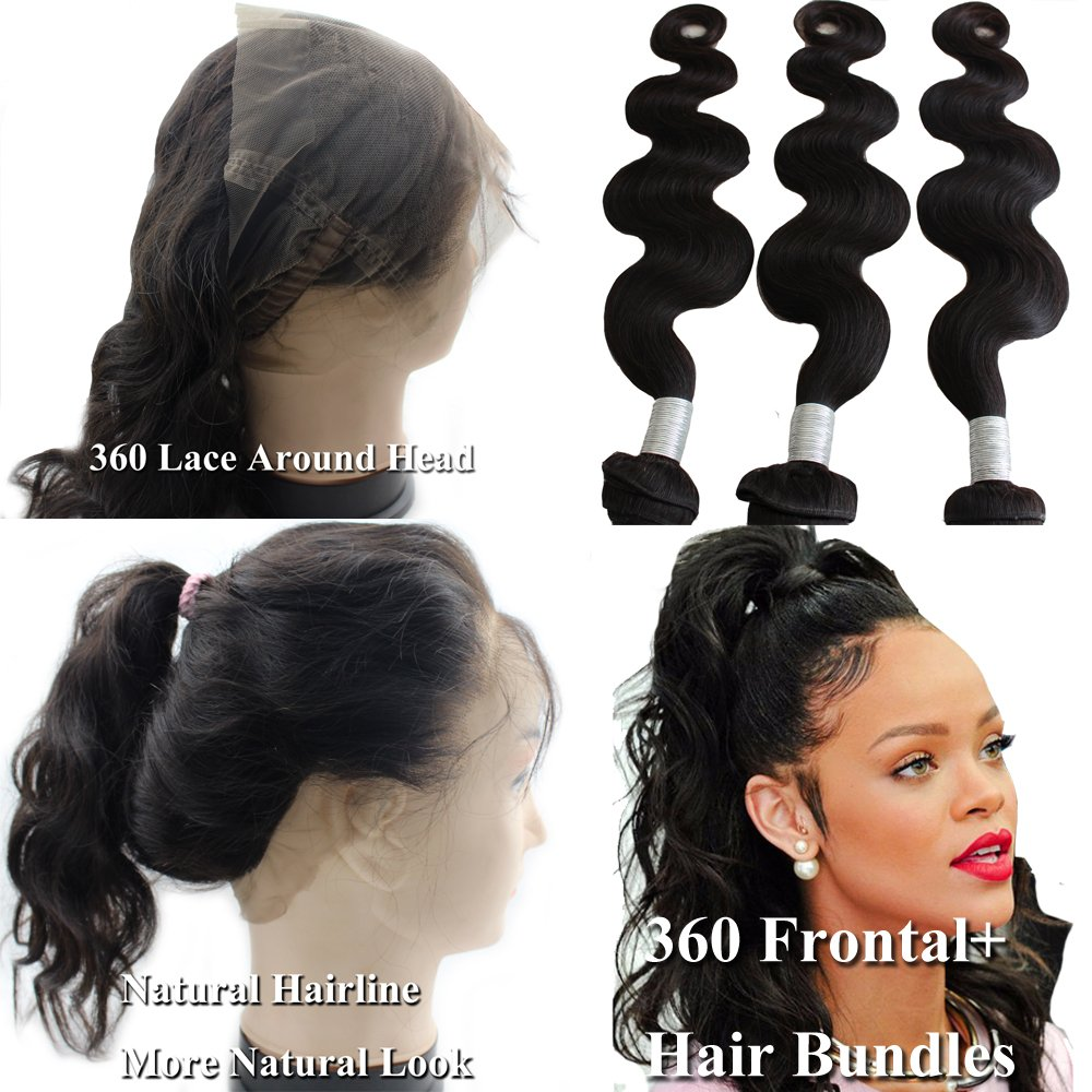 Amazon atina hair 360 lace frontal band with bundles amazon atina hair 360 lace frontal band with bundles brazilian body wave human hair weave with 360 frontal closure virgin hair 16 18 20 with 16 pmusecretfo Gallery