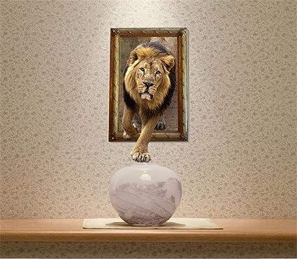 Gaoxu El león Tridimensional 3D murales Pegatinas de Pared ...