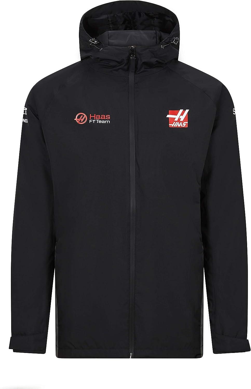Haas Racing F1 2020 Mens Team Rainjacket Black