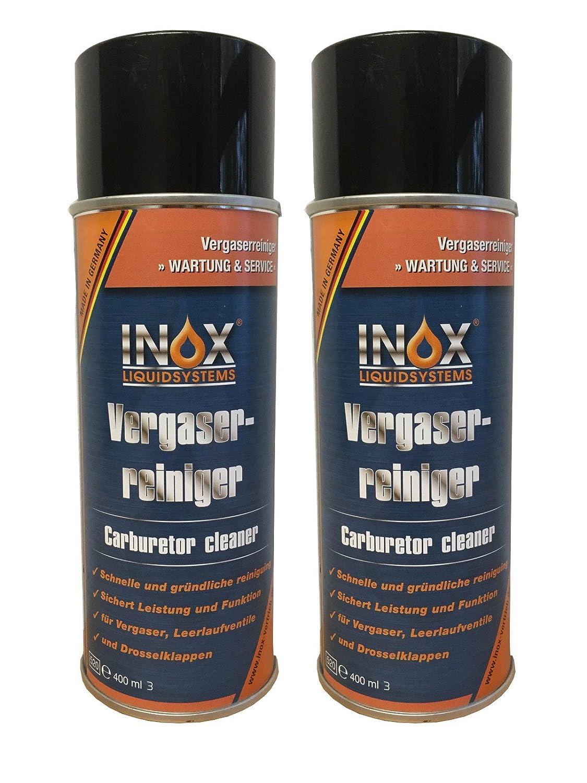 INOX and Damper Flap for Carburettor Idle Valve Carburetor Cleaner Spray, 2 x 400 ml 2x 400ml