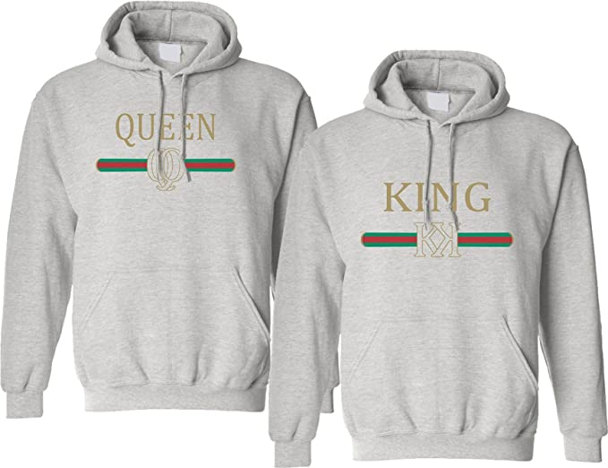 c2fa772a0f Allntrends Adult Couple Hoodies King Queen Fashion Trending: Amazon.ca:  Clothing & Accessories