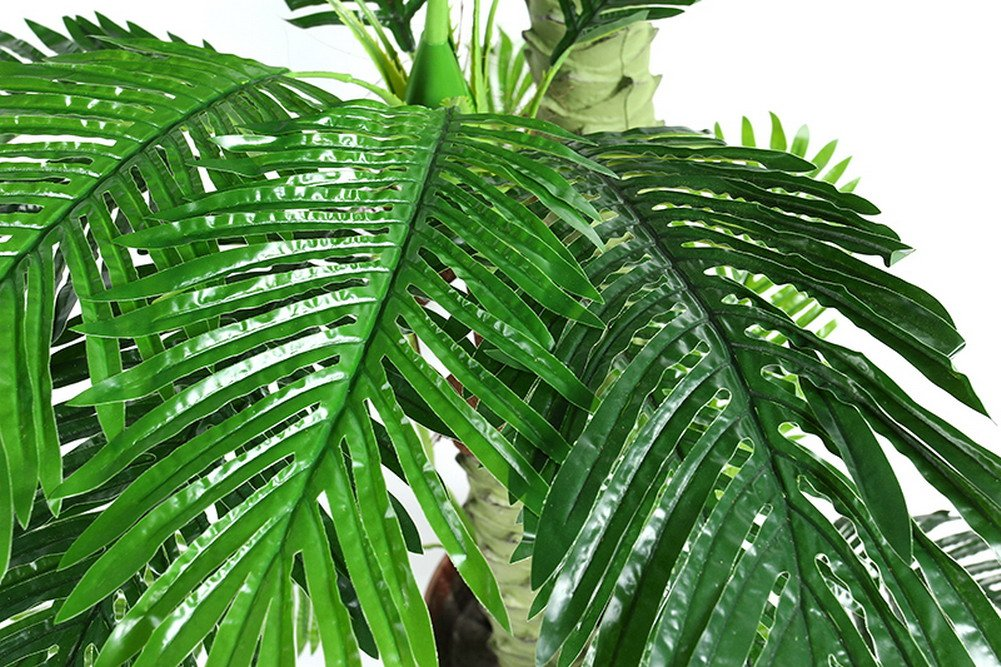 Artificial Palm Tree with Large Silk Green Leaves House Office Plant 6.0-Feet, With No Pot(577#)
