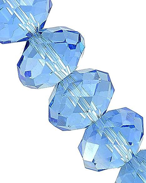 Czech Crystal Glass Faceted Rondelle Beads 8 x 10mm Dark Blue 70 Pcs Art Hobby