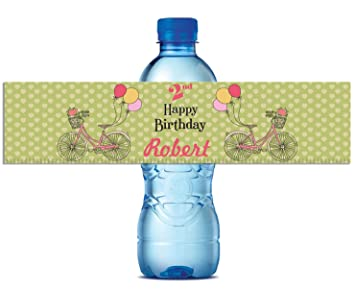 image relating to Printable Water Bottle Labels named : DONL9BAUER Personalized Drinking water Bottle Labels, Self