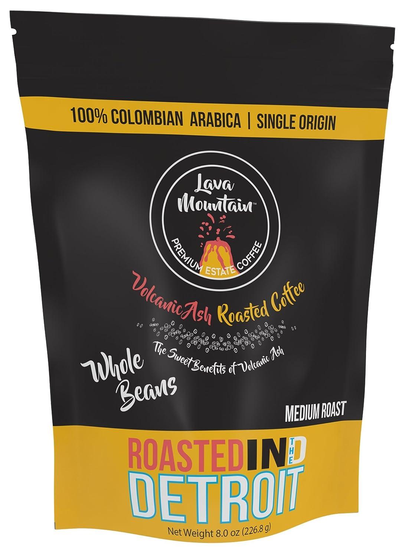 Lava Mountain Single Origin Colombia 8 oz Whole Bean Coffee, Medium Roast Image