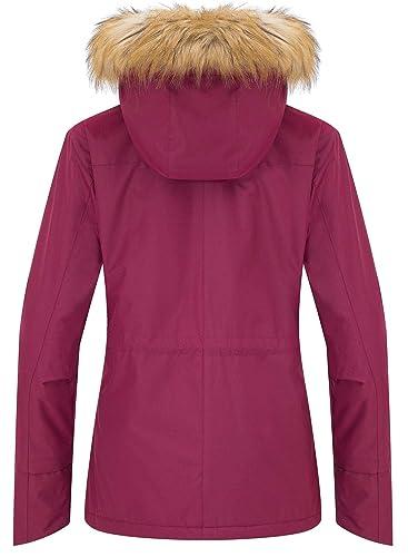 Wantdo Chaqueta de Esquí para Mujer Anorak Montaña Contraviento con Forro Polar: Amazon.es: Ropa y accesorios