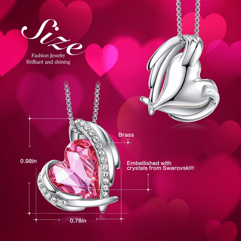 Amazon.com: CDE - Juego de joyas de ángel rosa, chapado en ...