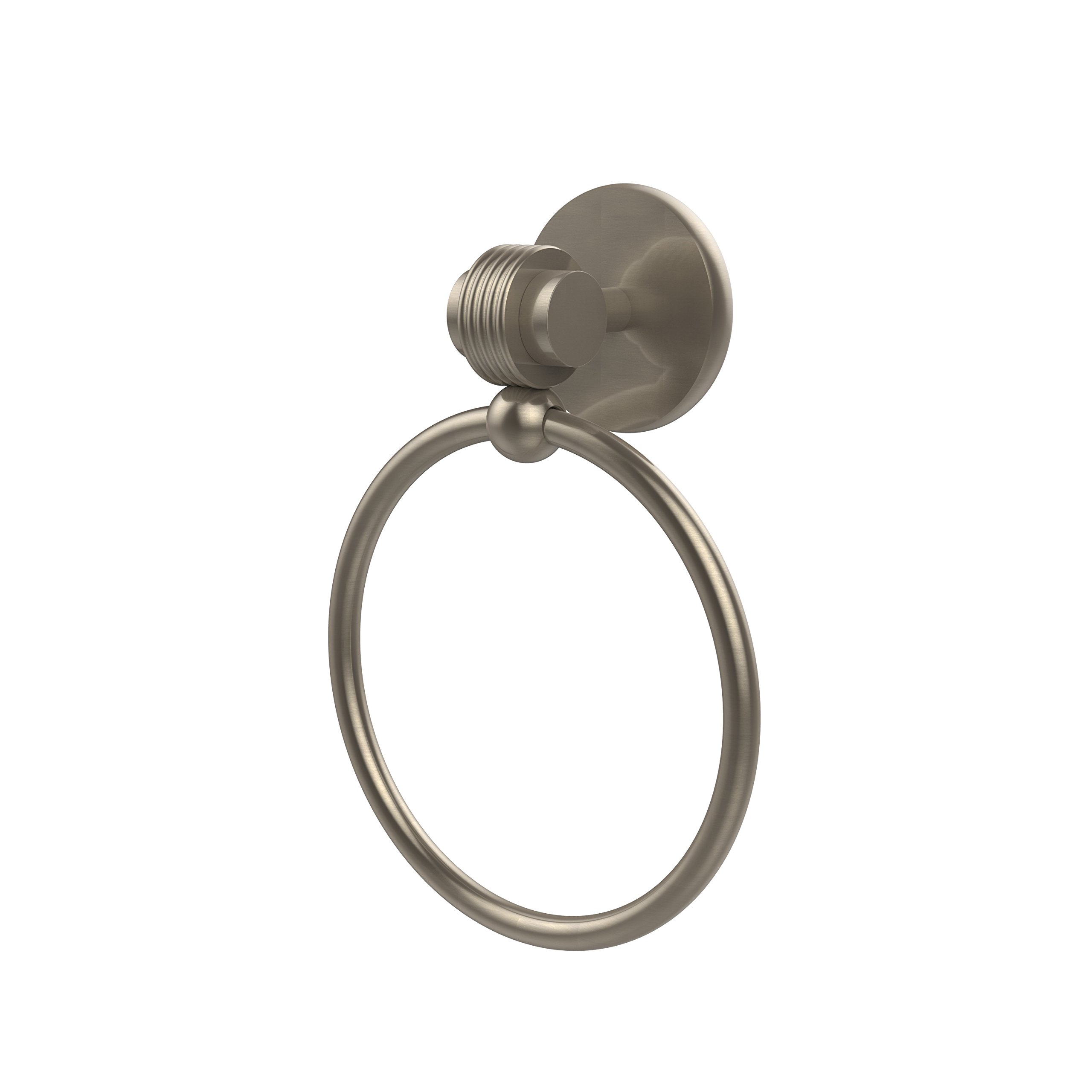 Allied Brass 7216G-PEW Single Towel Ring, Antique Pewter