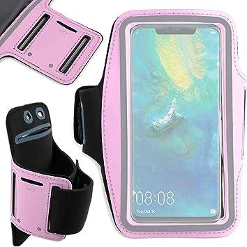 DURAGADGET Brazalete Deportivo Rosa para Smartphone Huawei Mate 20, Huawei Mate 20 Pro, Huawei Mate 20 RS: Amazon.es: Electrónica