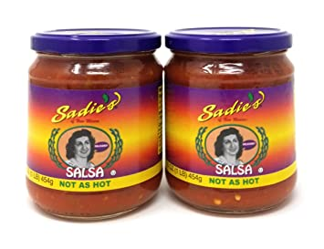 Sadies of New Mexico Not As Hot Salsa 16oz QTY 1