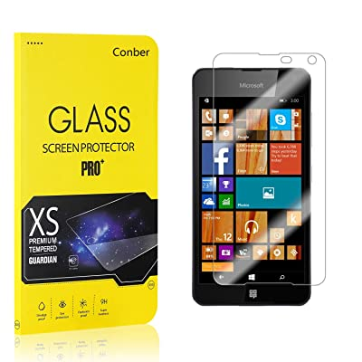 Conber (2 Pack) Screen Protector for Microsoft Lumia 650, [Scratch-Resistant][Anti-Shatter][Case Friendly] Premium Tempered Glass Screen Protector for Microsoft Lumia 650: Baby