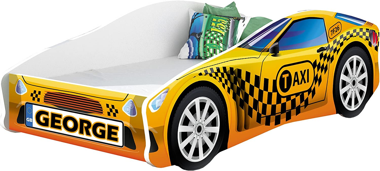 140x70, 2 Free Mattress Toddler Boys Girls 140x70 160x80 180x80 Children Kids Bed CAR