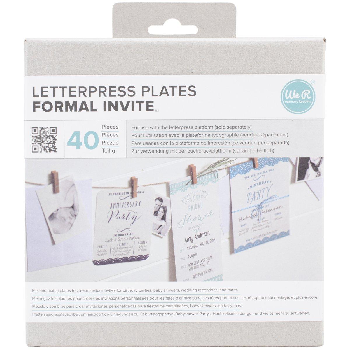 Amazon com we r memory keepers llpp 3752 lifestyle letterpress plates formal invite