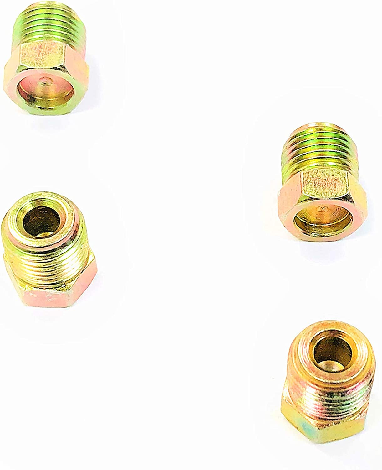 Roadrunner Performance PL08-08FJRB Anodized Push-On Hose Fittings 8 Straight Red//Blue