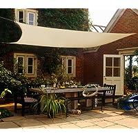 Shadeu0026Beyond 12u0027x16u0027 Sun Shade Sail Canopy UV Block For Patio Deck Yard And