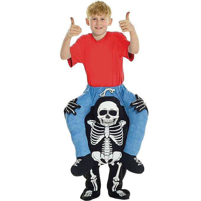 cc9e96a2e523 Amazon.com  Kids Piggyback Skeleton Costume Ride On Childs Illusion ...