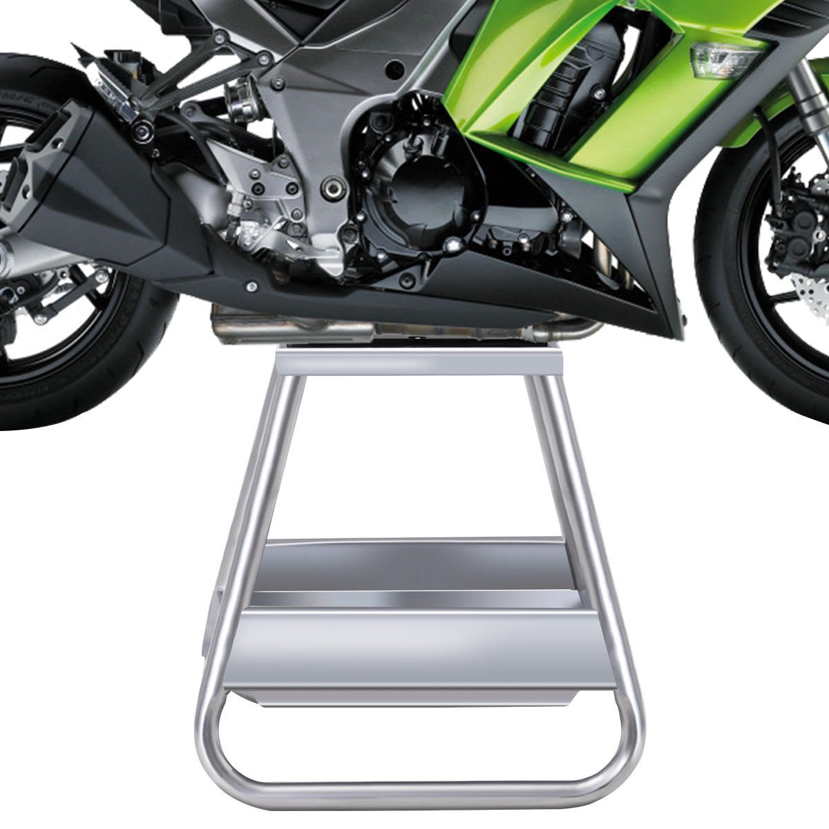 Goplus Motorcycle Motocross Dirt Bike Panel Stand Hoist Maintenance Lift Jack 1000LB Capacity (with Removable Oil Pan) by Goplus (Image #4)