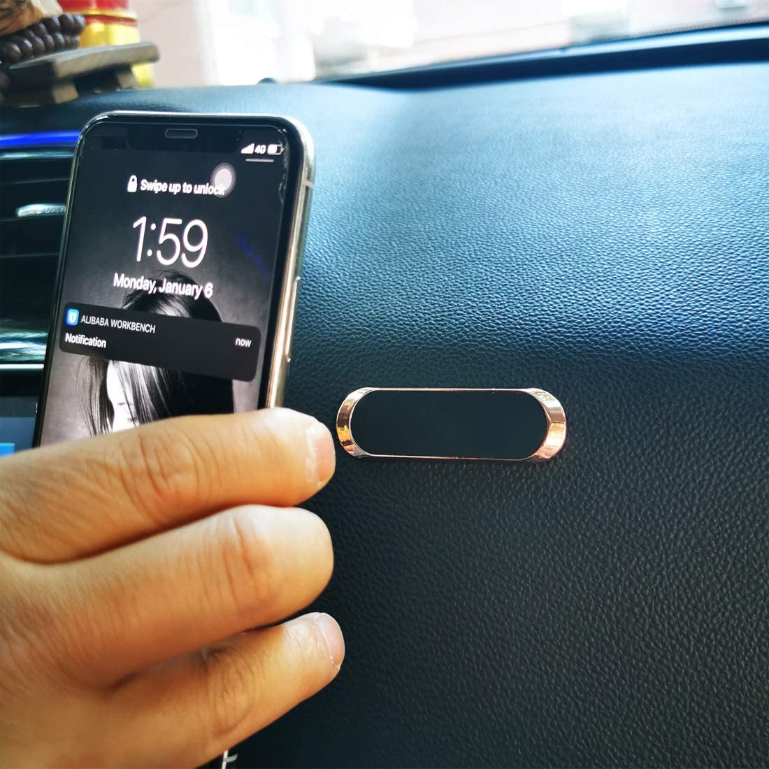 S8//S7 and More Magnetic Phone Car Mount Rose Gold 8,Samsung Galaxy S10//S9 Flat Dashboard Magnetic Car Phone Holder Compatible with iPhone 11//XS//XR//X