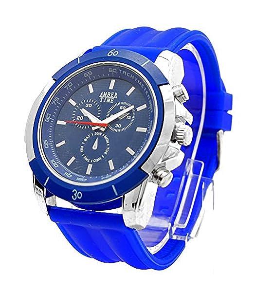 Hombre Mujer Reloj XXL azul - Reloj de piloto Reloj Reloj de pulsera reloj de hombre reloj de pulsera DG Trendit Blue Amber: Amazon.es: Relojes