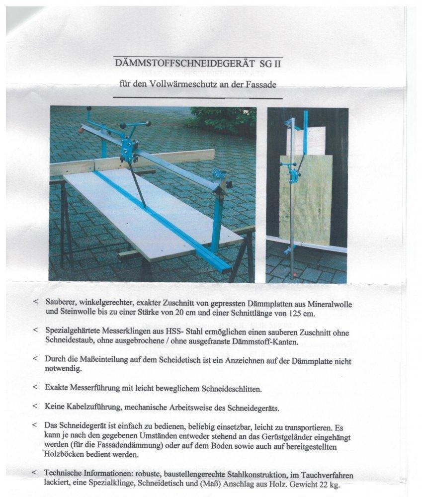 24cm St/ärke D/ämmstoffschneideger/ät-D/ämmstoffschneider SG I bis ca