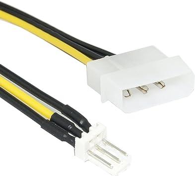 SaiTech IT 3-Pin ATX Ventilador de 4 Pines molex Conector del Ventilador Cable de alimentación Adaptador: Amazon.es: Electrónica