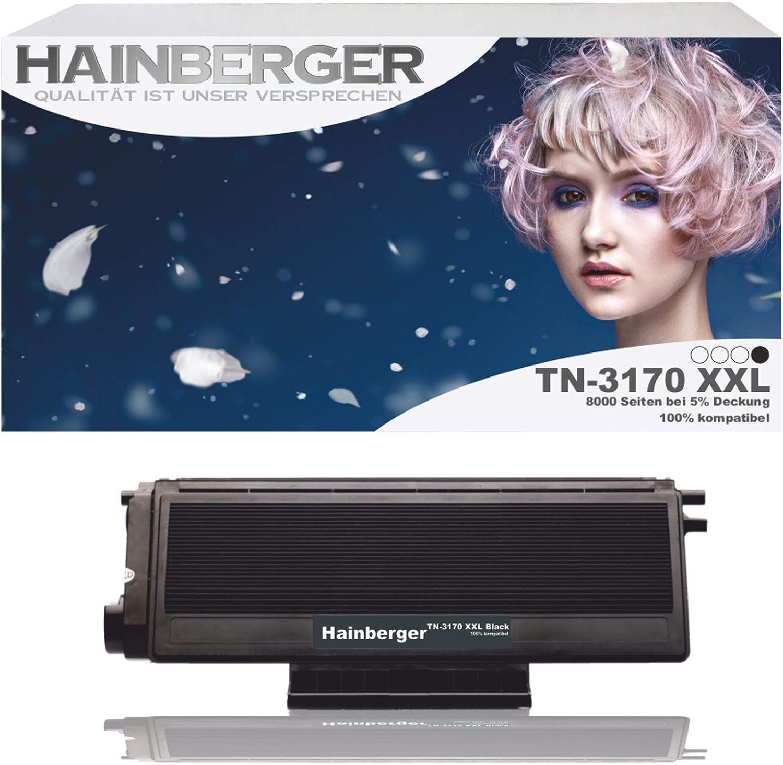 Hainberger Toner Kompatibel Zu Brother Tn 3170 Tn 3185 Schwarz 6000 Seiten Bürobedarf Schreibwaren