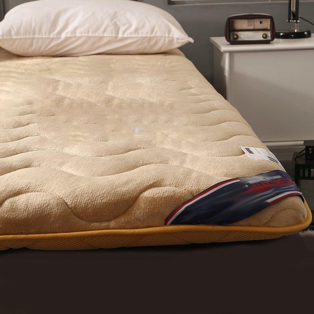 LJ&XJ 厚畳,滑り止めスポンジ ベッド マットレスの通気性,反ほこりダニ畳マットレス,両側は使用することができる-A 90*200cm B07CJN6SB6 90*200cm|A A 90*200cm