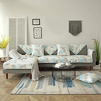 Amazon.com: Funda de sofá de algodón antideslizante para ...