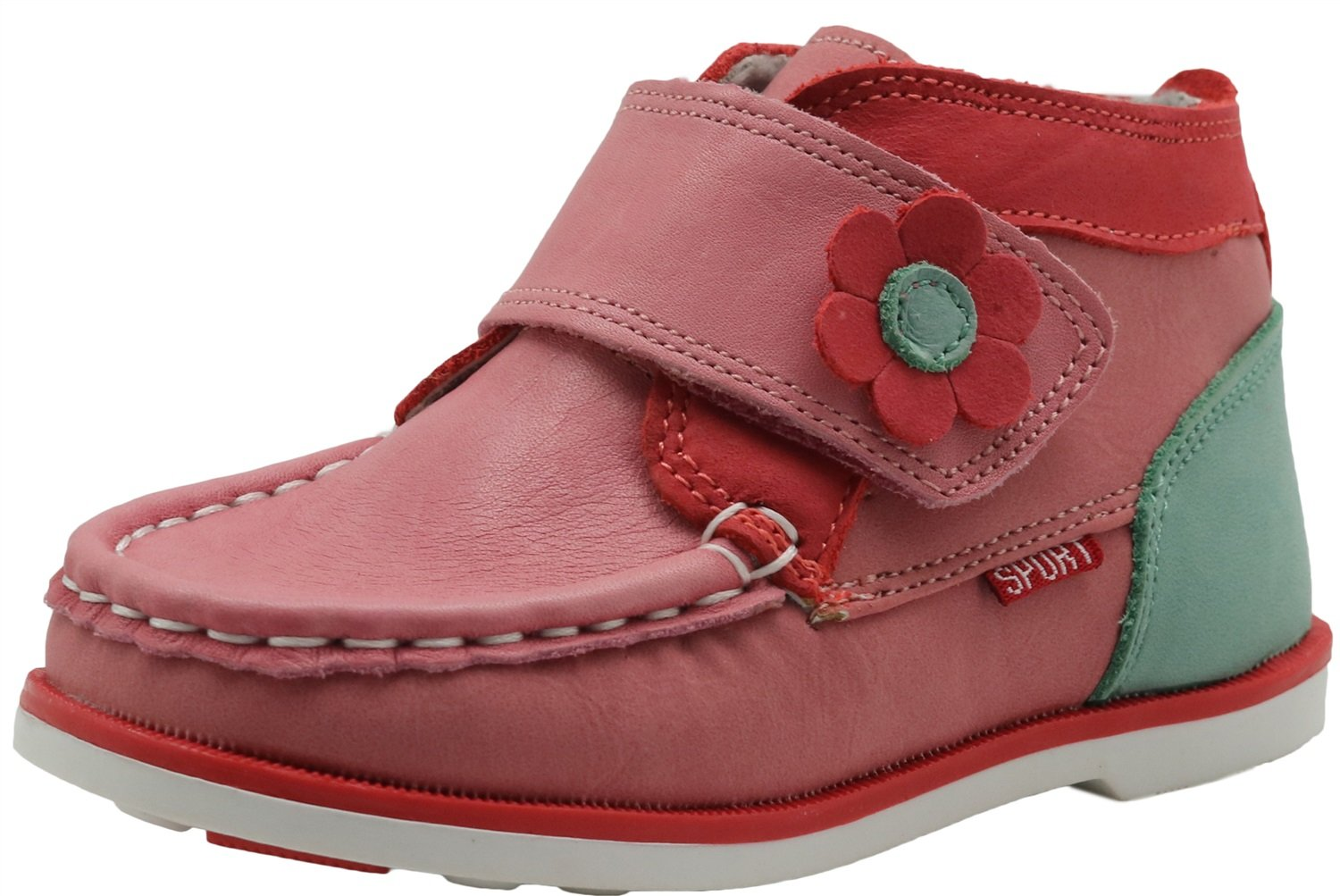 Non-Slip Toddler Girls Shoes Flower Spring Atumn Leather Boots with Arch Support Durable Color : Pink , Size : 7 M US Toddler