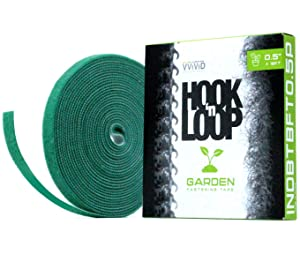"VViViD Hook n' Loop Self-Adhesive Garden Management Strip 1/2"" x 18ft Roll"