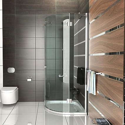 Cabina de ducha Cuarto Círculo Cristal Mampara 90 x 90 X200 cm/Marco los ducha completo drehtür Mampara ducha pared Alpen Berger: Amazon.es: Bricolaje y herramientas