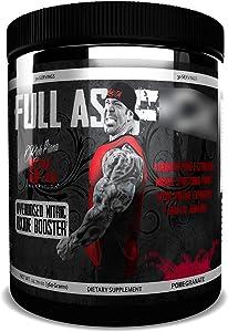 Rich Piana 5% Nutrition FAF Overdosed Nitric Oxide Boosting, Non-Stim, Pre-Workout Powder | Massive Pumps, Strength Gains & Endurance | Aminos, L-Citrulline, Agmatine | 12.7 oz (Pomegranate)