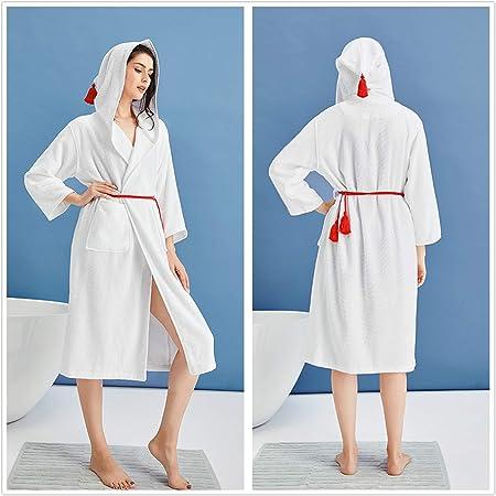 XUMING para Hombre de Las señoras de Albornoz Bata Bata de baño de Rizo 100% Vereesa Vestidos Batas Toalla de algodón Mujer de los Hombres,L: Amazon.es: Hogar