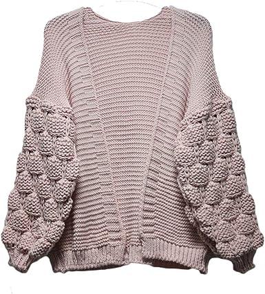 MALAIKA New Women Bobble Knit Sleeve Cardigan Ladies High Street Winter Jumper Sweaters