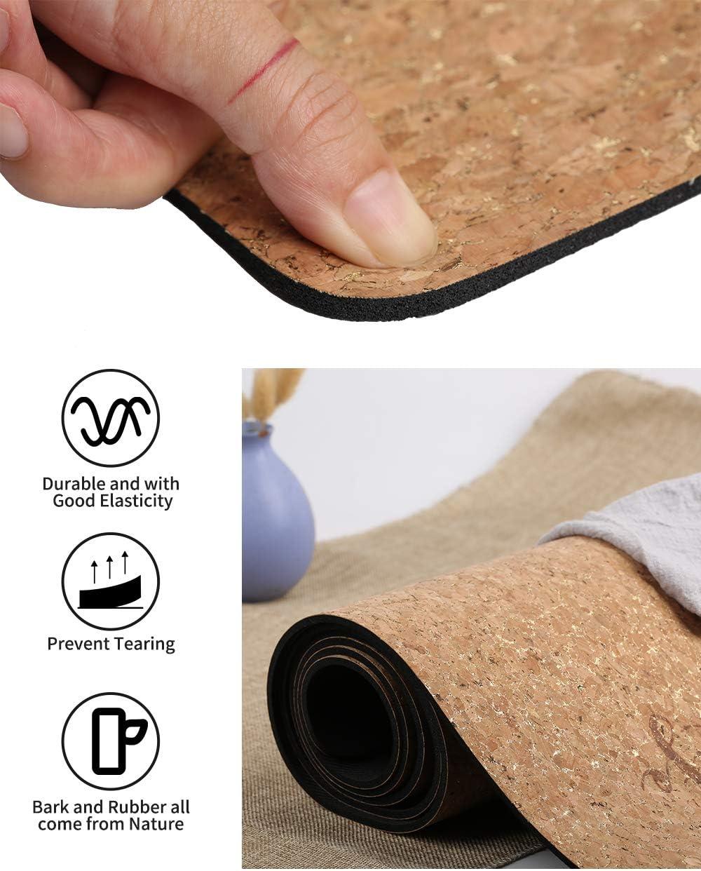 Esterilla para Yoga y Fitness Antideslizante Golden