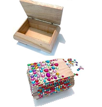 Cofre del Tesoro del tesoro cajas Juego de manualidades de madera de 2 + Self-