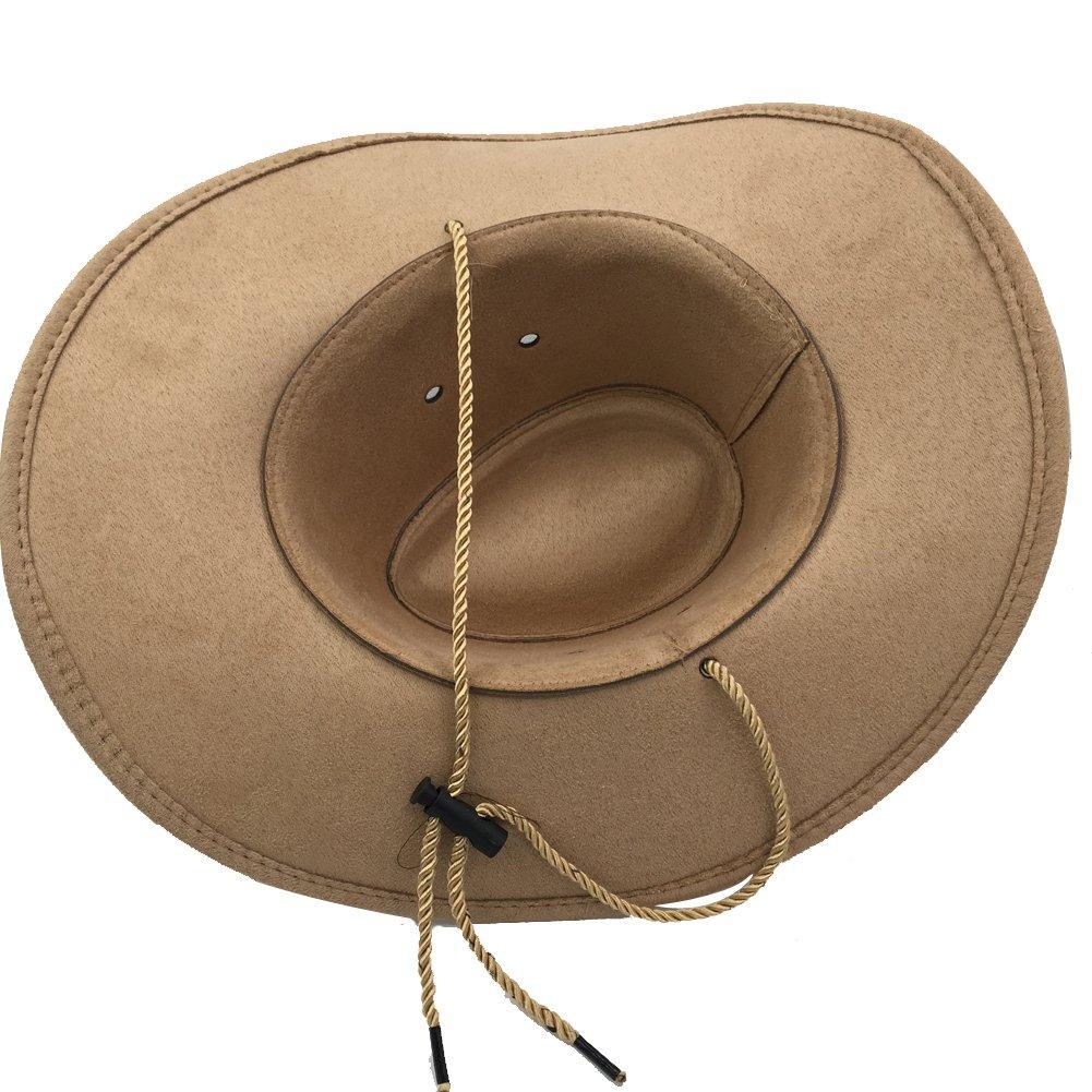 b88a4b2da762e Sandy Ting Mens Outback Faux Felt Wide Brim Western Cowboy Hat Men
